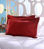 StyBuzz Red Cotton 18 x 27 Pillow Cover - Set of 2