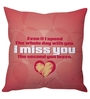 Stybuzz Red Poly Silk 16 x 16 Inch I Miss You Cushion Cover