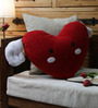 Stybuzz Red Velvet 16 x 16 Inch Angel Wing Heart Cushion Cover with Insert