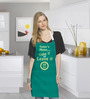 Stybuzz Take It Or Leave It Green Cotton Kitchen Aprons