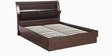 Super Magna King Bed with Hydraulic Storage in Indian Mahogany Finish by Godrej Interio