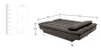 Supersoft Sofa Bed in Black Colour by Furny