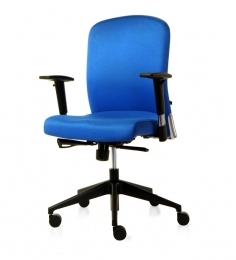 Supremo Series A Medium Back Office Chair In Blue Colour By BlueBell Ergonomics