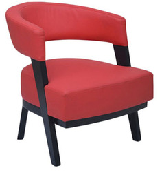 Sudan One Seater Lounge Chair in Red Colour by Furnitech