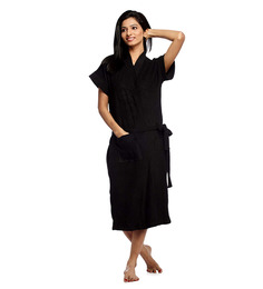 Superior Blue Cotton Bath Robe