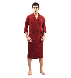 Superior Orange Cotton Bath Robe
