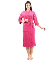 Superior Red Cotton Bath Robe