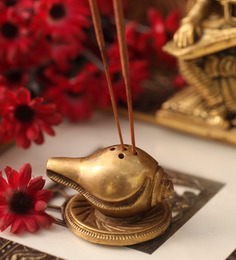 Suriti Copper Brass Shank Incense Stick Holder