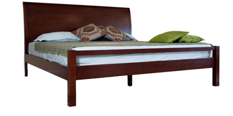 Sula Sleigh King Bed in Cidar Colour by Forzza
