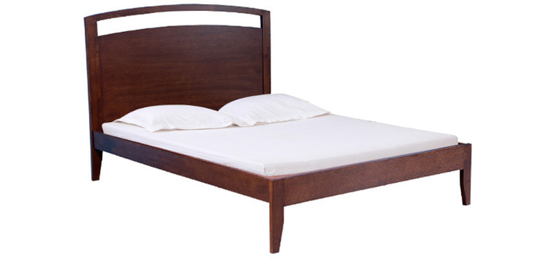 Sutton King Bed with low footboard in Cigar by Forzza