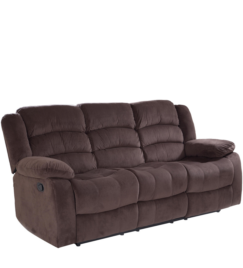 subtle three seater fabric recliner by looking good