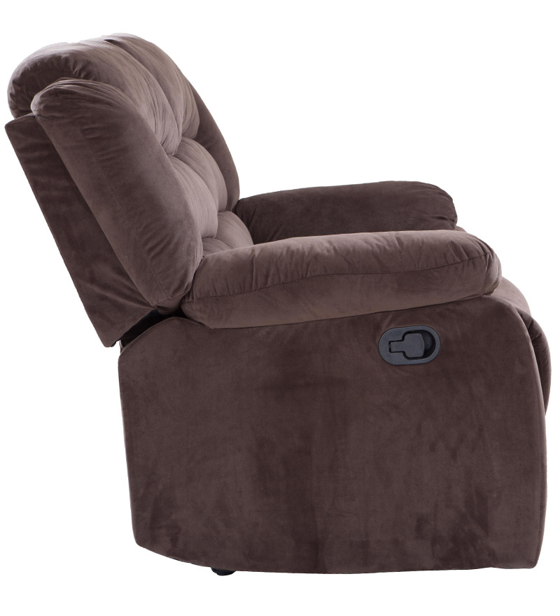 buy subtle two seater fabric recliner by looking good