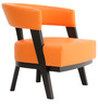 Sudan One Seater Lounge Chair in Orange Colour by Furnitech