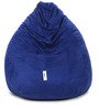 Suede Bean Bag Cover without Beans in Blue Colour by Can