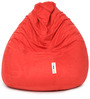 Suede Bean Bag Cover without Beans in Red Colour by Can