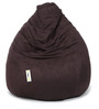 Suede Bean Bag Filled with Beans in Brown Colour by Can