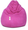 Suede Bean Bag Filled with Beans in Light Purple Colour by Can
