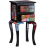 Kalatya Hand Painted End Table with Two Drawers by Mudramark