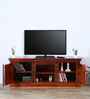 Sumana Handcrafted Entertainment Unit in Honey Oak Finish by Mudramark