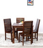Glen Four Seater Dining Set in Provincial Teak Finish by Woodsworth