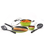 Sumeet Six Pix Aluminum 5-piece Green and Black Non Stick Cookware Set