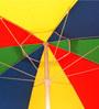Sun Umbrellas Winch Open Outdoor Umbrella 7 inch in Multicolor