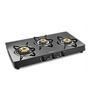 Sunflame Classic 3B BK/SS Auto Extra Spacious Toughened Glass Cooktop