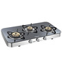 Sunflame Crystal Curve Toughened Glass 3-burner Cooktop