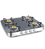 Sunflame Crystal Curve Toughened Glass 4-burner Auto Ignition Cooktop