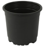 Sunrise 10 cm Black Colour Planter Pot by Chhajed Garden