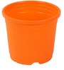 Sunrise 10 cm Orange Colour Planter Pot by Chhajed Garden