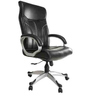 Superio High Back Executive Chair in Black Leatherette by Starshine