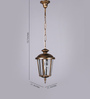 Superscape Outdoor Lighting Antique Gold Aluminium Pendant
