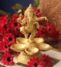 Suriti Golden Brass Ganesha Oil Diya