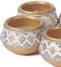 Suriti Multicolour Clay Diwali Diya - Set of 5
