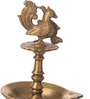 Suriti Golden Brass Peacock Oil Diya with Base