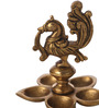 Suriti Golden Brass Peacock Oil Diya
