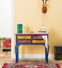Nilaka - Painted Console Table in Azure Colour by Mudramark
