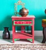Alikram Hand Painted Table with One Drawer by Mudramark