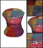 Elkview Pouffe in Multi-Colour Finish by Bohemiana