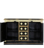 Adhvara Sideboard with Brass Repousse Work by Mudramark