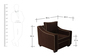 Swarthmore Sofa Set (3+1) in Coffee Color by ARRA