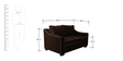 Swarthmore Sofa Set (3+2) in Coffee Color by ARRA