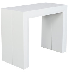Swank Convertible Console Table in White Colour by Gravity