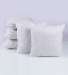 SWHF White Non Woven Fabric 16 X 16 Inch Cushion Inserts - Set Of 5