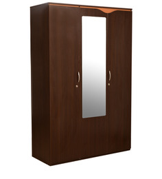 Swirl 3 Door Wardrobe in Dual Finish by HomeTown