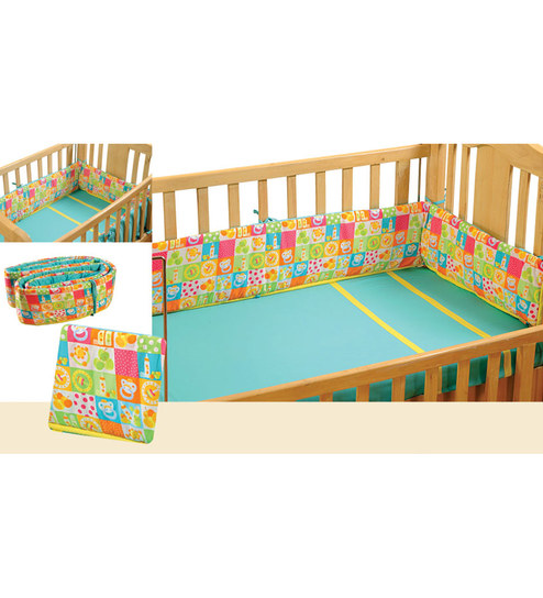 Swayam Digitally Printed Cot Bumper (Large / Std Size) - 1502073
