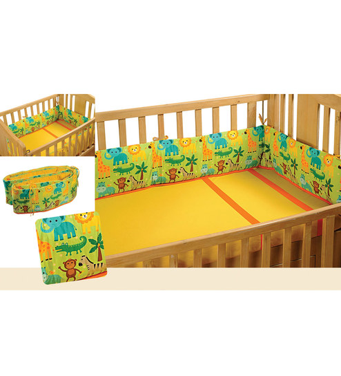Swayam Digitally Printed Cot Bumper (Large / Std Size) - 1502070