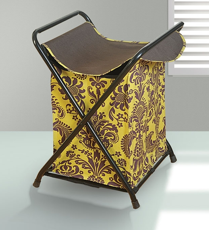 Swayam Printed Laundry Bag With Lid at Flat 30% Off - Rs 530