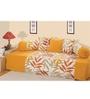 Swayam Yellow Cotton Leaf Printed 6-piece Diwan Set